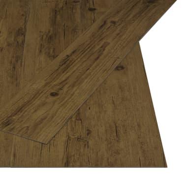 vidaXL Grindų plokštės, 4,46m², PVC, prilipdomos, natūr. rud. sp.[2/5]