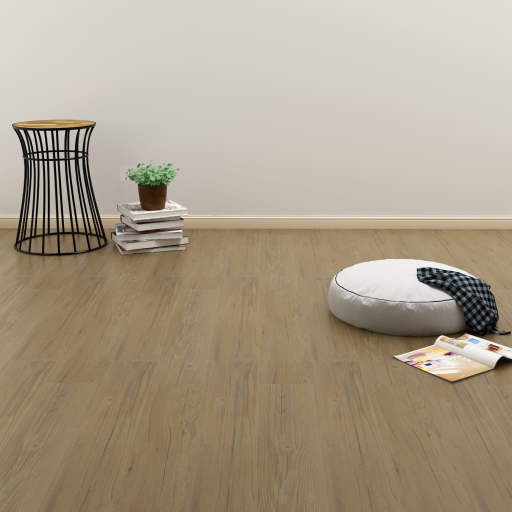 vidaXL Samolepící podlahová prkna 4,46 m² 3 mm PVC přírodní hnědá