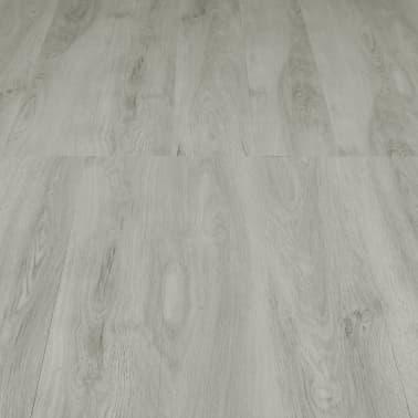 vidaXL Grindų plokštės, 4,46m², PVC, prilipdomos, švies. pilk. sp.[4/5]