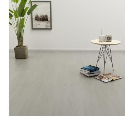 vidaXL Grindų plokštės, 4,46m², PVC, prilipdomos, švies. pilk. sp.[1/5]