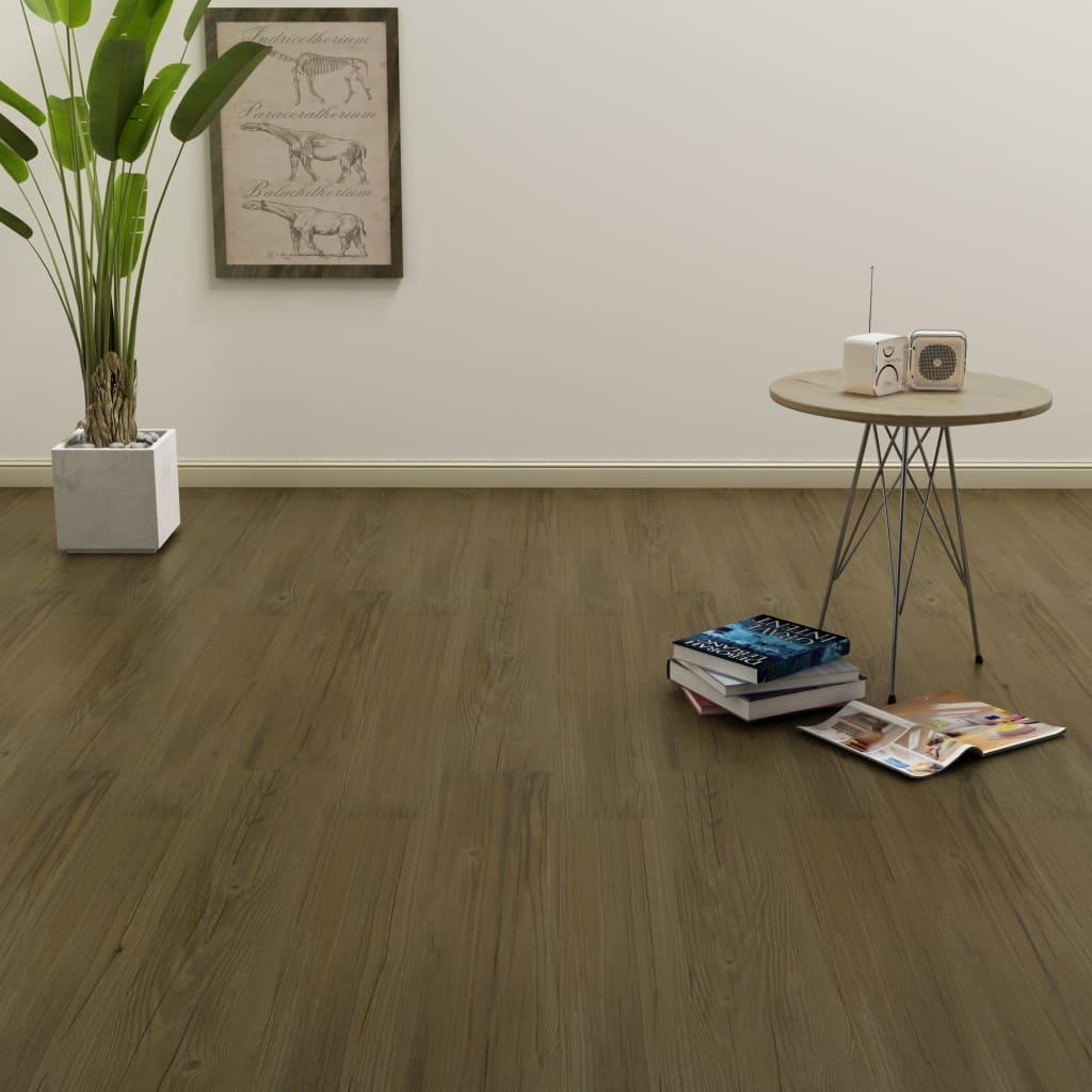 vidaXL Samolepící podlahová prkna 4,46 m² 3 mm PVC hnědá