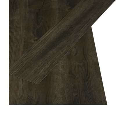 vidaXL Självhäftande golvplankor 4,46 m² 3 mm PVC mörkgrå