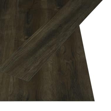 vidaXL Grindų plokštės, 4,46m², PVC, prilipdomos, tams. rudos sp.[2/5]