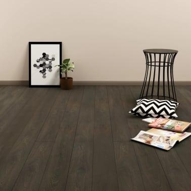 vidaXL Grindų plokštės, 4,46m², PVC, prilipdomos, tams. rudos sp.[1/5]