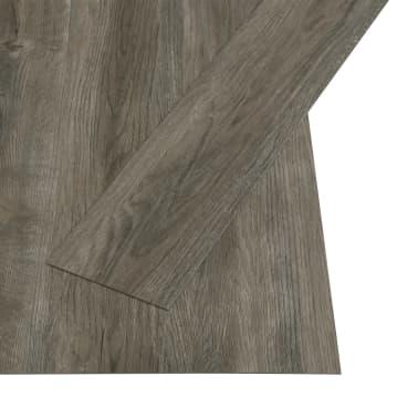 vidaXL Grindų plokštės, 4,46m², PVC, prilipdomos, pilk. ir rud. sp.[2/5]