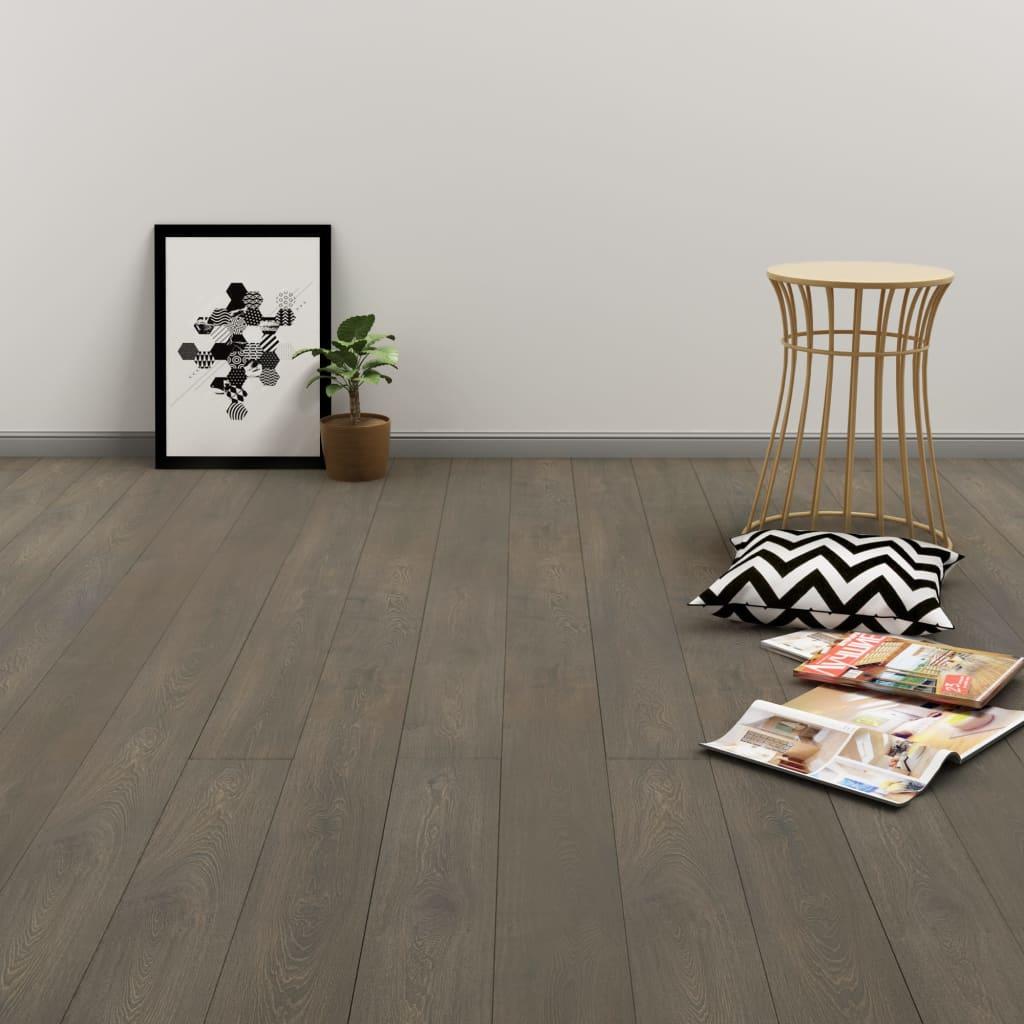 vidaXL Samolepící podlahová prkna 4,46 m² 3 mm PVC šedo-hnědá