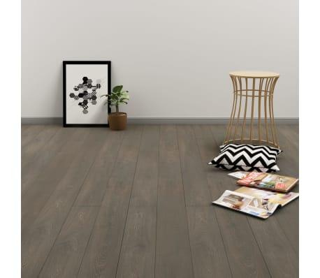 vidaXL Grindų plokštės, 4,46m², PVC, prilipdomos, pilk. ir rud. sp.[1/5]