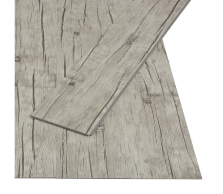 vidaXL Klickgolv 3,51 m² 4 mm PVC ekfärgad