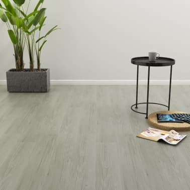 vidaXL Plăci podea cu îmbinare clic, gri 3,51 m² 4 mm, PVC[1/6]