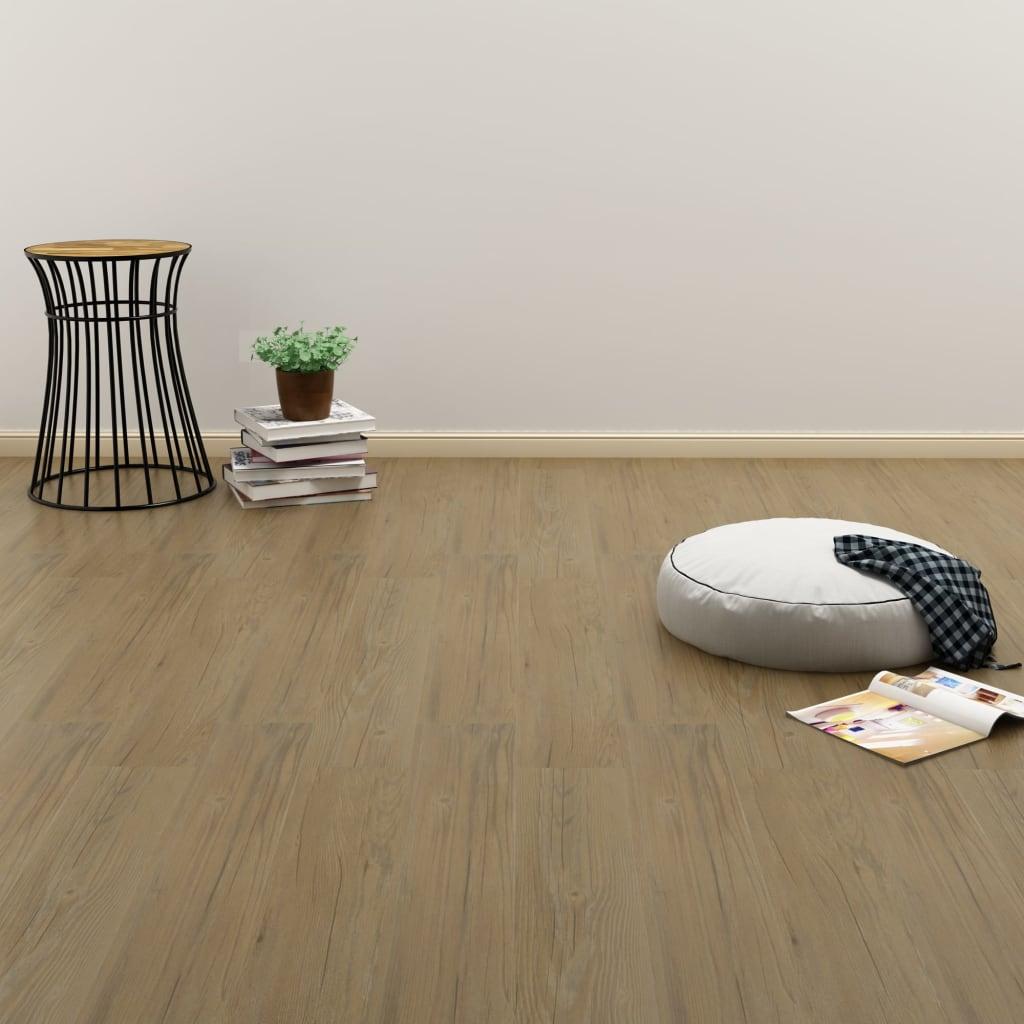 vidaXL Plovoucí vinylová podlaha 3,51 m² 4 mm přírodní hnědá