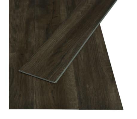 vidaXL Plăci podea cu îmbinare clic, maro închis 3,51 m² 4 mm, PVC