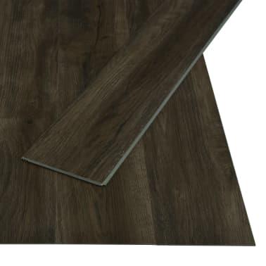 vidaXL Planches de plancher autoadhésives 3,51 m² PVC Marron foncé[2/6]