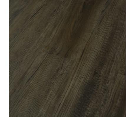 vidaXL Klikvloer 3,51 m² 4 mm PVC donkerbruin[3/6]