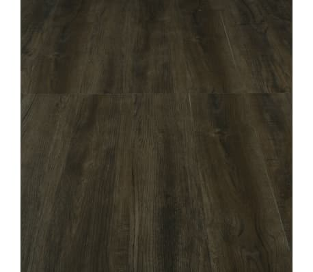 vidaXL Klikvloer 3,51 m² 4 mm PVC donkerbruin[5/6]