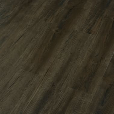 vidaXL Klikvloer 3,51 m² 4 mm PVC donkerbruin[4/6]
