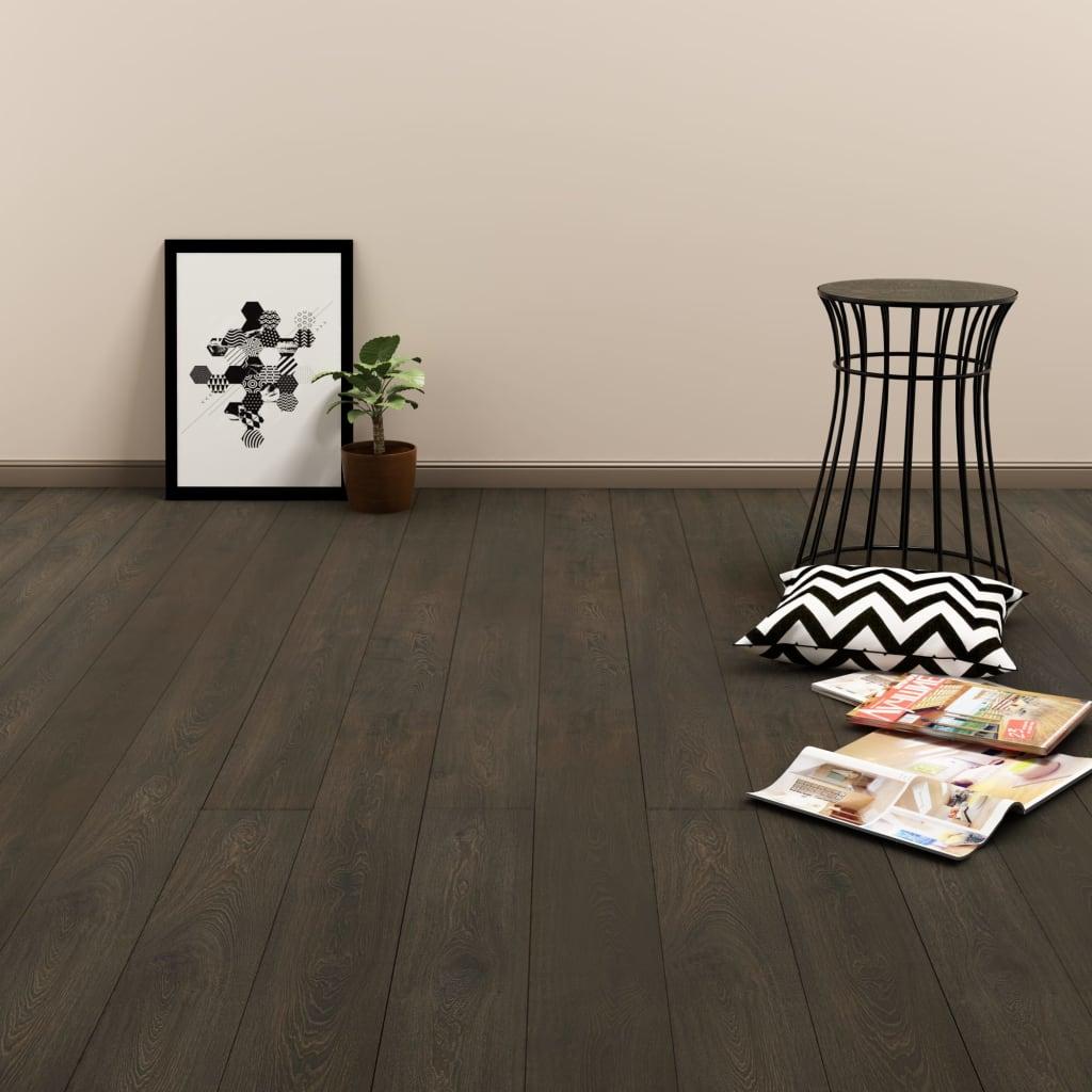 vidaXL Plovoucí vinylová podlaha 3,51 m² 4 mm tmavě hnědá