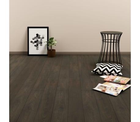 vidaXL Planches de plancher autoadhésives 3,51 m² PVC Marron foncé[1/6]