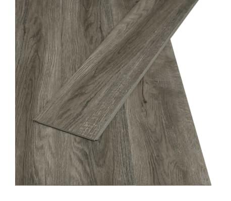 vidaXL Plăci podea cu îmbinare clic, gri & maro 3,51 m² 4 mm, PVC