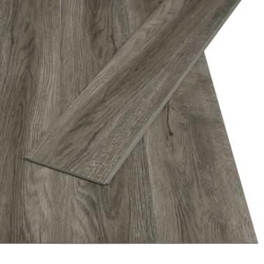 vidaXL Plancher à enclenchement 3,51 m² 4 mm PVC Gris et marron[2/6]