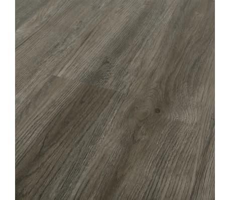 vidaXL Plancher à enclenchement 3,51 m² 4 mm PVC Gris et marron[4/6]
