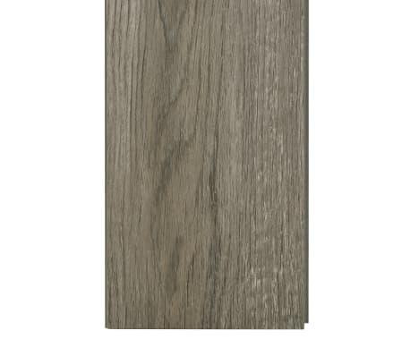 vidaXL Plancher à enclenchement 3,51 m² 4 mm PVC Gris et marron[6/6]