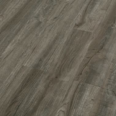 vidaXL Plancher à enclenchement 3,51 m² 4 mm PVC Gris et marron[3/6]