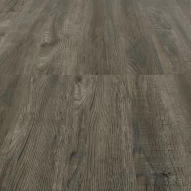 vidaXL Plancher à enclenchement 3,51 m² 4 mm PVC Gris et marron[5/6]