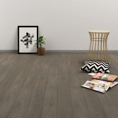 vidaXL Plancher à enclenchement 3,51 m² 4 mm PVC Gris et marron[1/6]