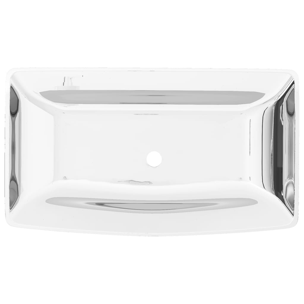 vidaXL Wastafel 71x38x13,5 cm keramiek zilverkleurig