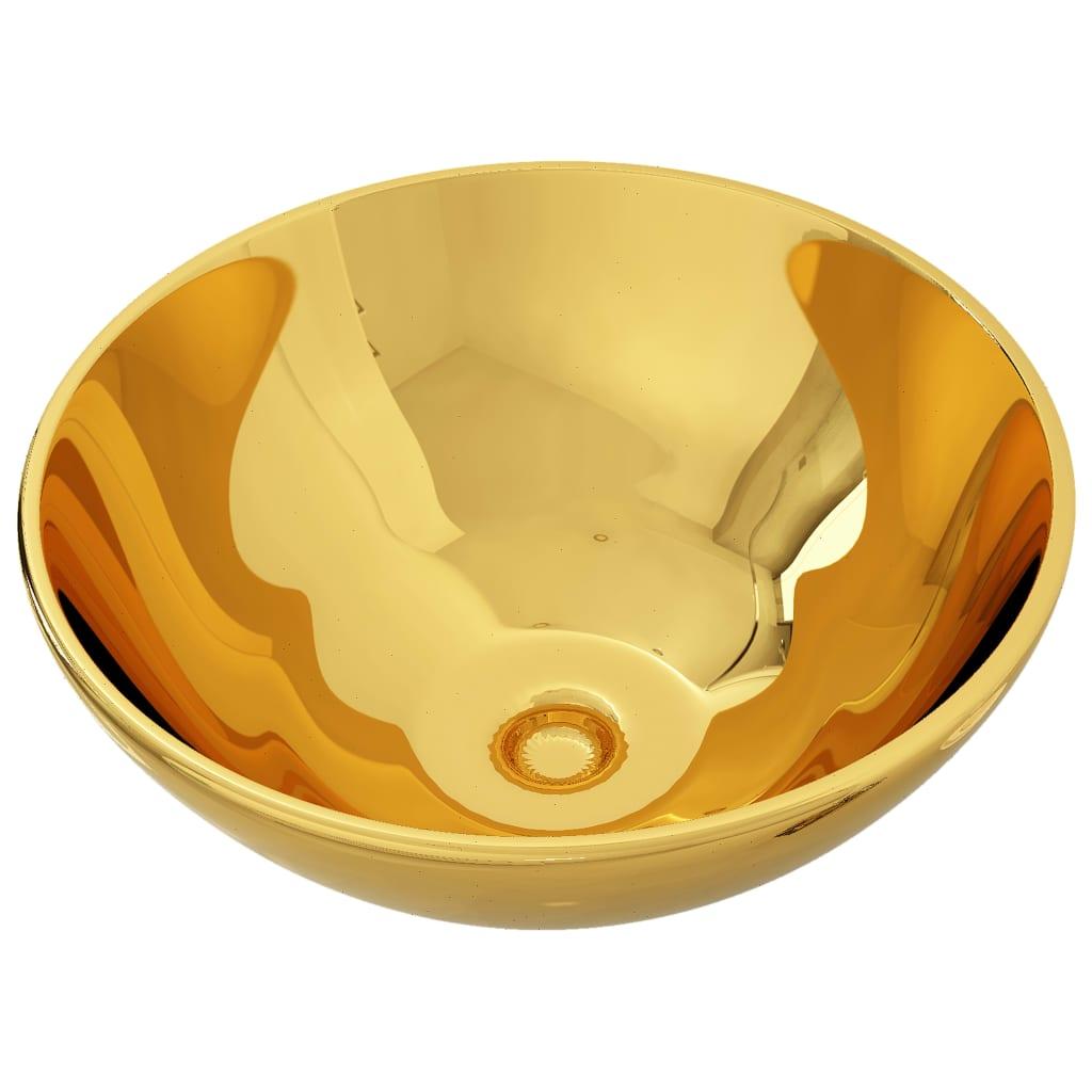 vidaXL Νιπτήρας Χρυσός 32,5 x 14 εκ. Κεραμικός