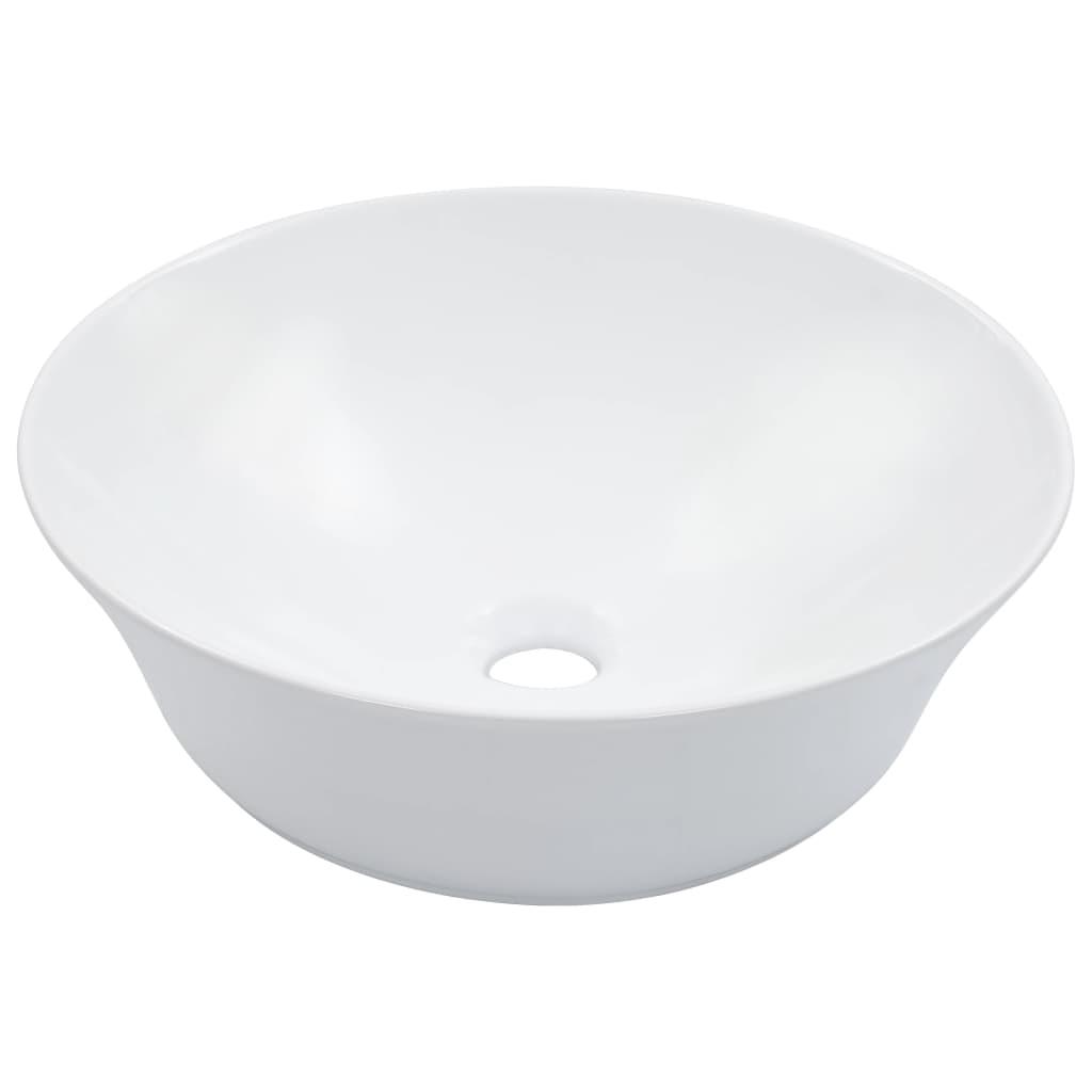 Umyvadlo bílé 41 x 12,5 cm keramika