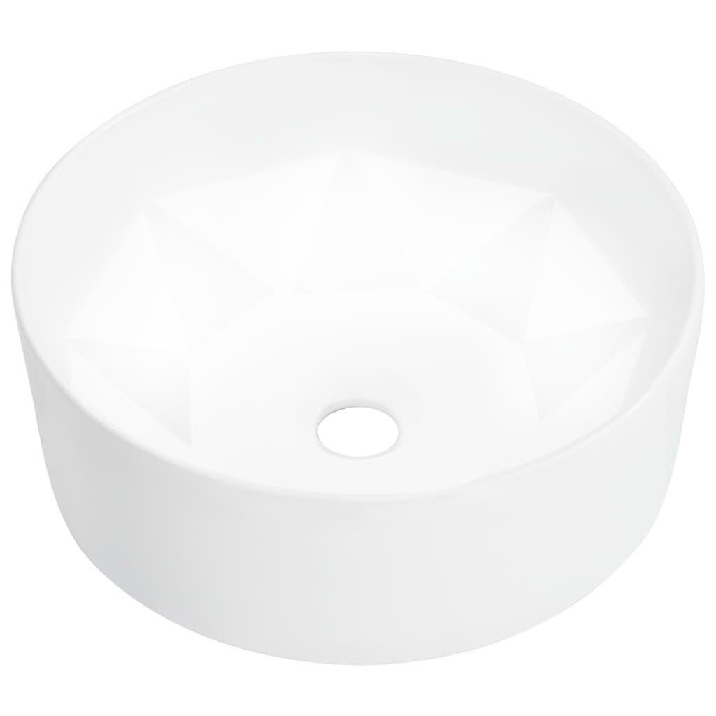vidaXL Chiuvetă de baie, alb, 36 x 14 cm, ceramică imagine vidaxl.ro