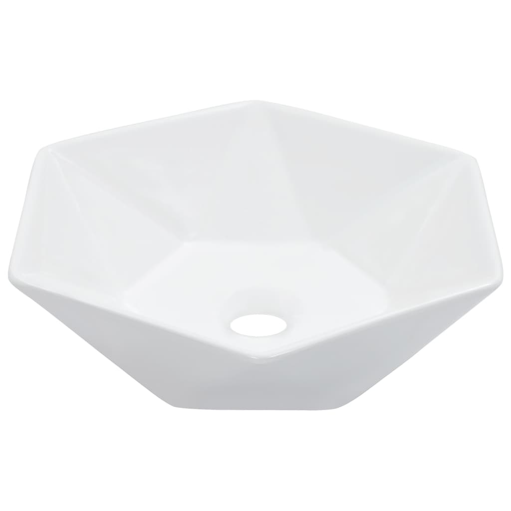 vidaXL fehér kerámia mosdókagyló 41 x 36,5 x 12 cm
