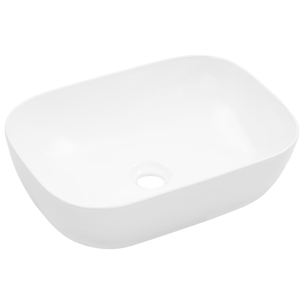 vidaXL Chiuvetă de baie, alb, 45,5 x 32 x 13 cm, ceramică vidaxl.ro