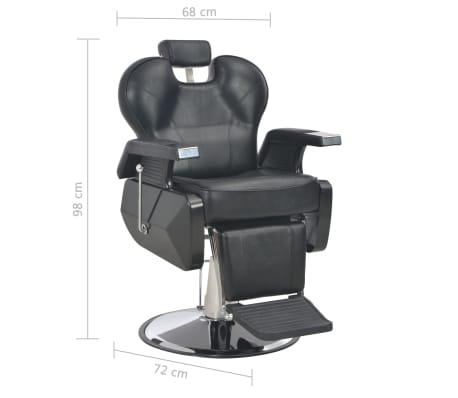vidaXL Scaun frizer, negru, 72 x 68 x 98 cm, piele ecologică[11/11]