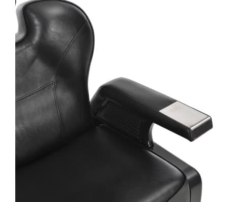 vidaXL Scaun frizer, negru, 72 x 68 x 98 cm, piele ecologică[10/11]