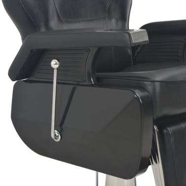 vidaXL Scaun frizer, negru, 72 x 68 x 98 cm, piele ecologică[8/11]