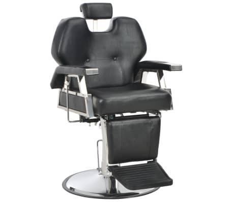 vidaXL Silla de peluquería de cuero sintético negra 72x68x98 cm[1/11]