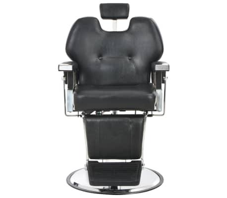 vidaXL Silla de peluquería de cuero sintético negra 72x68x98 cm[2/11]