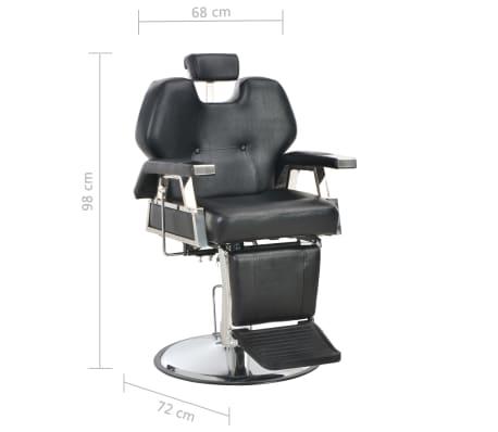 vidaXL Silla de peluquería de cuero sintético negra 72x68x98 cm[11/11]