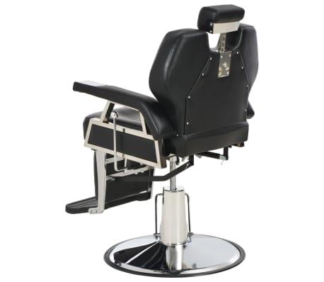 vidaXL Silla de peluquería de cuero sintético negra 72x68x98 cm[4/11]