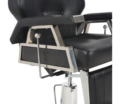vidaXL Silla de peluquería de cuero sintético negra 72x68x98 cm[8/11]