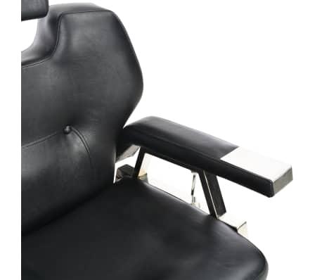 vidaXL Silla de peluquería de cuero sintético negra 72x68x98 cm[10/11]