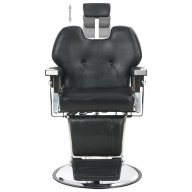 vidaXL Silla de peluquería de cuero sintético negra 72x68x98 cm[5/11]