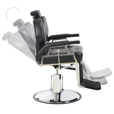 vidaXL Silla de peluquería de cuero sintético negra 72x68x98 cm[6/11]