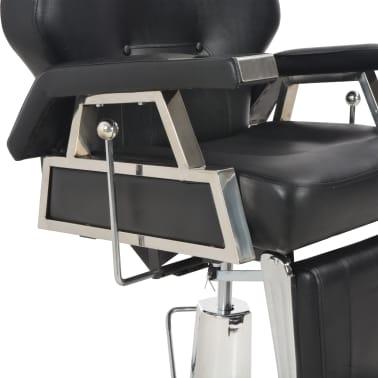 vidaXL Kirpėjo kėdė, juoda, 72x68x98 cm, dirbtinė oda[8/11]