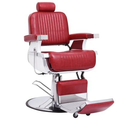 vidaXL Kirpėjo kėdė, raudona, 68x69x116 cm, dirbtinė oda[1/10]