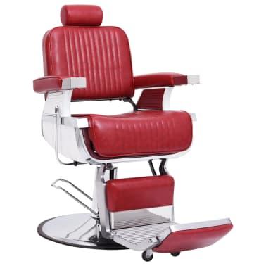 vidaXL Scaun de frizer, roșu, 68 x 69 x 116 cm, piele ecologică[1/10]