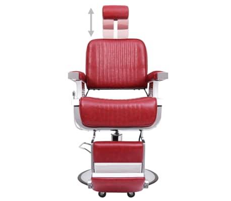 vidaXL Kirpėjo kėdė, raudona, 68x69x116 cm, dirbtinė oda[2/10]