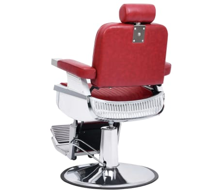 vidaXL Scaun de frizer, roșu, 68 x 69 x 116 cm, piele ecologică[3/10]